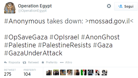 OpSaveGaza Anonymous hacking