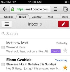 mobile apps gmail