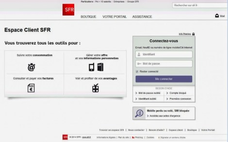 phishing Scheme SFR