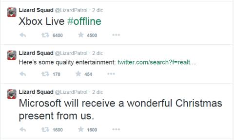 LizardSquad Xbox live service