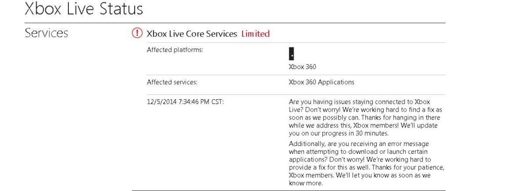 Xbox Live service down again due to a new DDoS