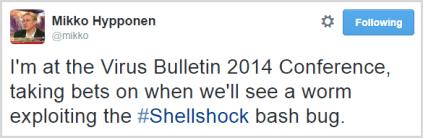 shellshock bashbug tweet