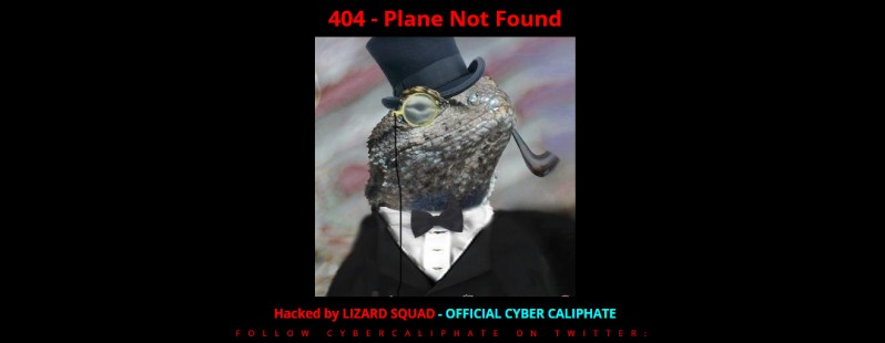 Lizard Squad Malaysian airlines 2