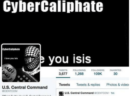 US CENTCOM twitter account hacked 4