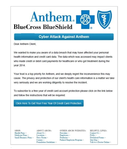 anthem phishing email_example
