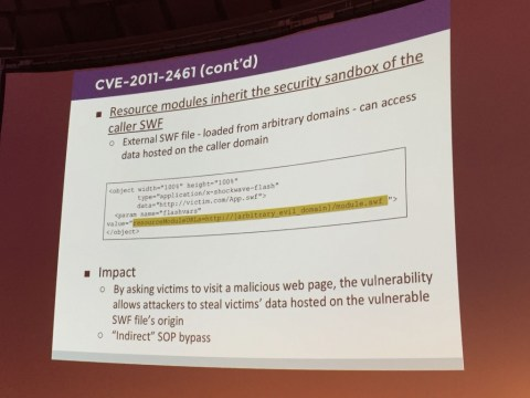 Adobe CVE-2011-2461 flaw