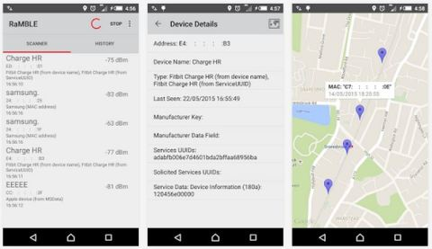 mobile app Ramble track iot Bluetooth Low Energy devices