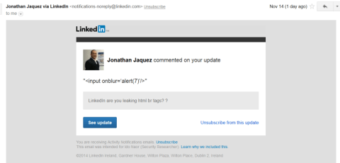 LinkedIn Spear phishing 2