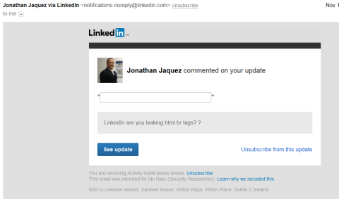 LinkedIn Spear phishing 3