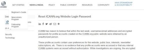 ICANN security warning