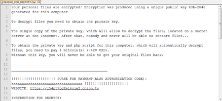 Linux ransomware ransom demand