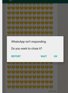How to Crash WhatsApp with simple smileysSecurity Affairs