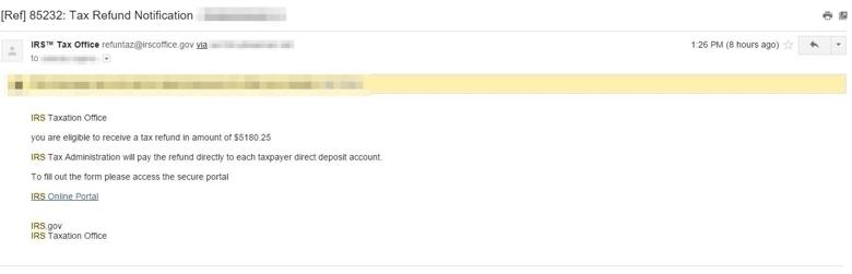IRS tax fraud phishing kit