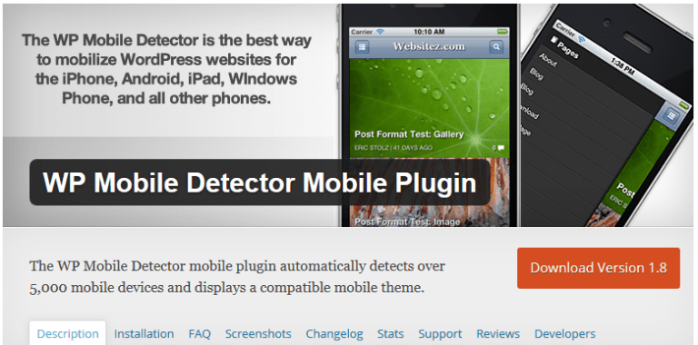 WP Mobile Detector plugin