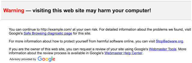 Safe Browsing Safer Links in Gmail warning