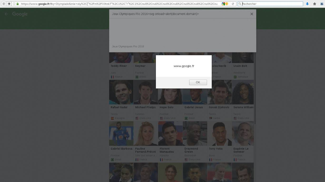 cross-site scripting Google FR