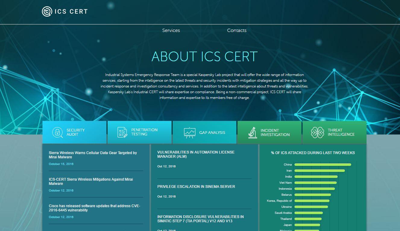 Kaspersky Lab ICS-CERT