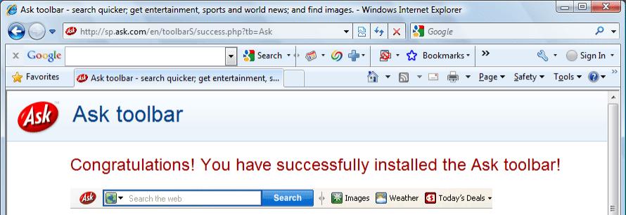 ask.com toolbar-malware