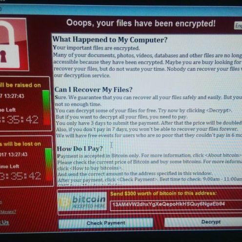 NHS WannaCrypt ransomware