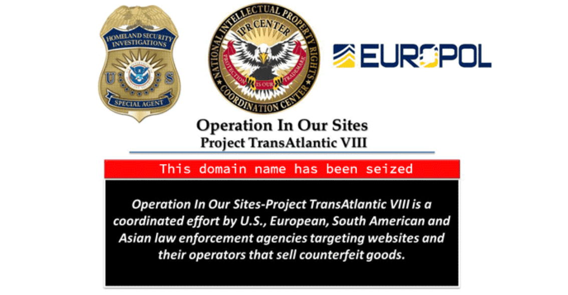 Europol Operation In Our Sites