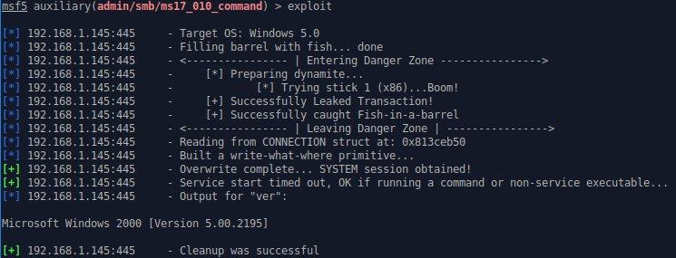Metasploit exploits NSA EternalRomance