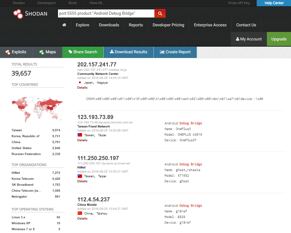HnS ADB_exposed_Shodan