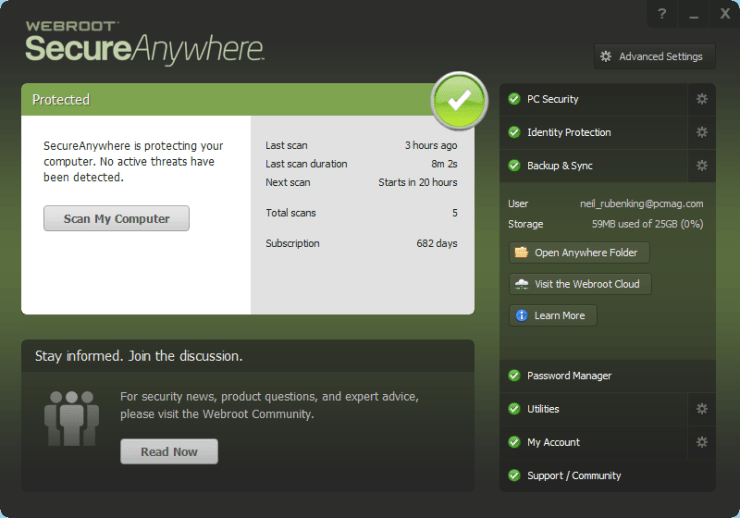 SecureAnywhere webroot