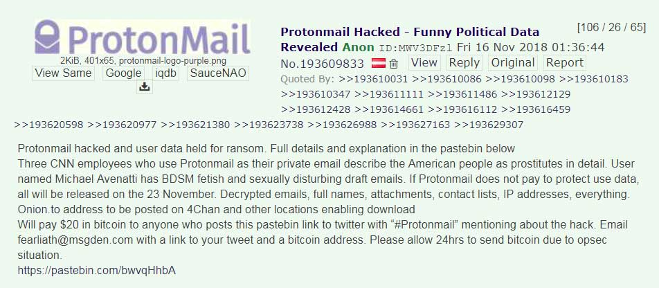 protonmail hacked