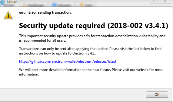 Electrum wallets flaw