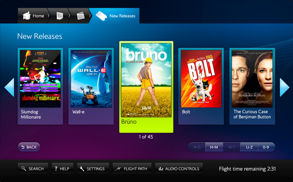 British Airways Entertainment System