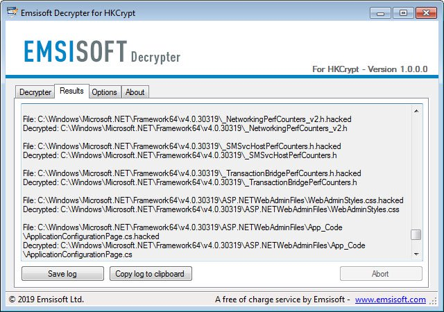 How to get back files encrypted by the Hacked Ransomware for