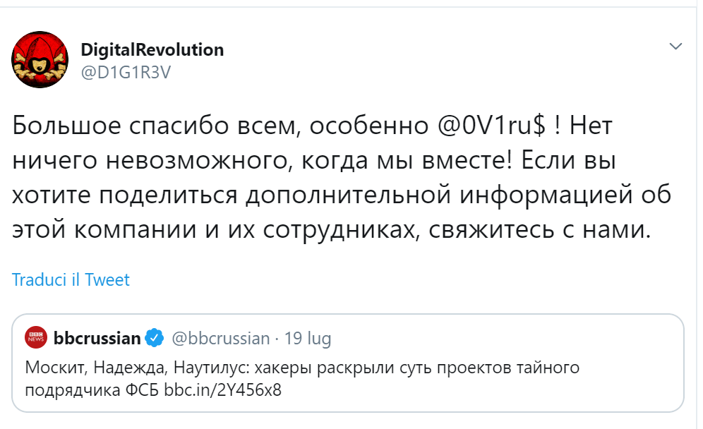 FSB contractor hacked