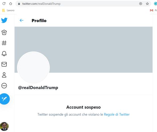 Trump account suspended 2