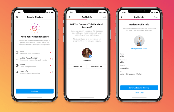 Instagram implements 'Security Checkup' to help users recover compromised accounts