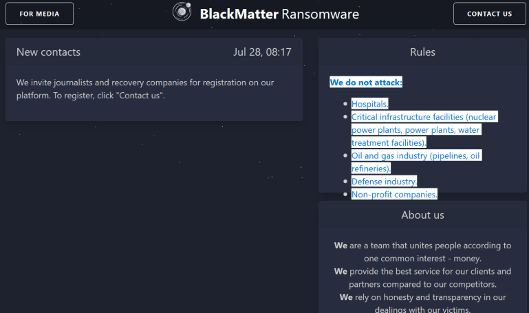 More evidence suggests that DarkSide and BlackMatter are the same group