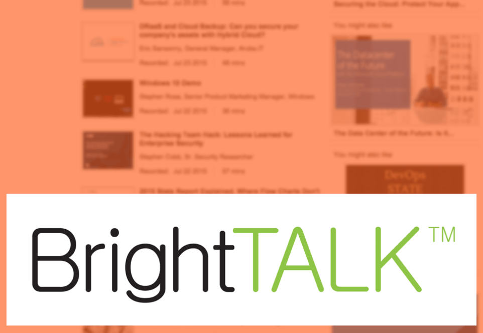 Brighttalk supports the Security Culture Framework