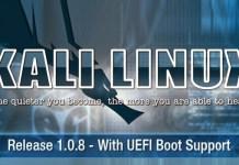 Kali Linux 1.0.8 – Phiên bản mới nhất hỗ trợ UEFI Boot