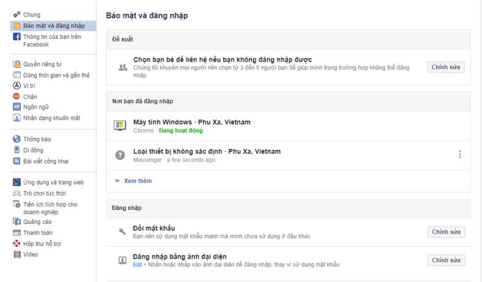Hướng dẫn đăng xuất tài khoản Facebook từ tất cả các thiết bị - Bước 2