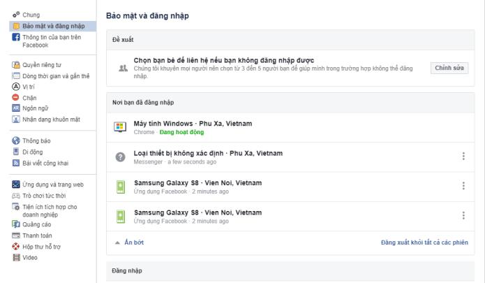 Hướng dẫn đăng xuất tài khoản Facebook từ tất cả các thiết bị - Bước 3