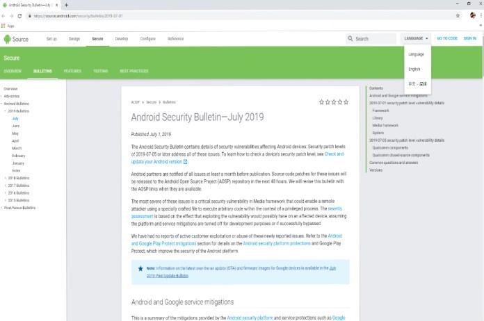 Android phát hành bản vá bảo mật tháng 7