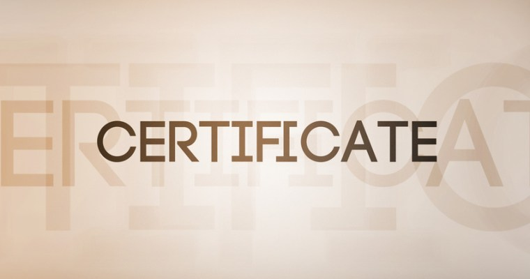 Certificate and Experience