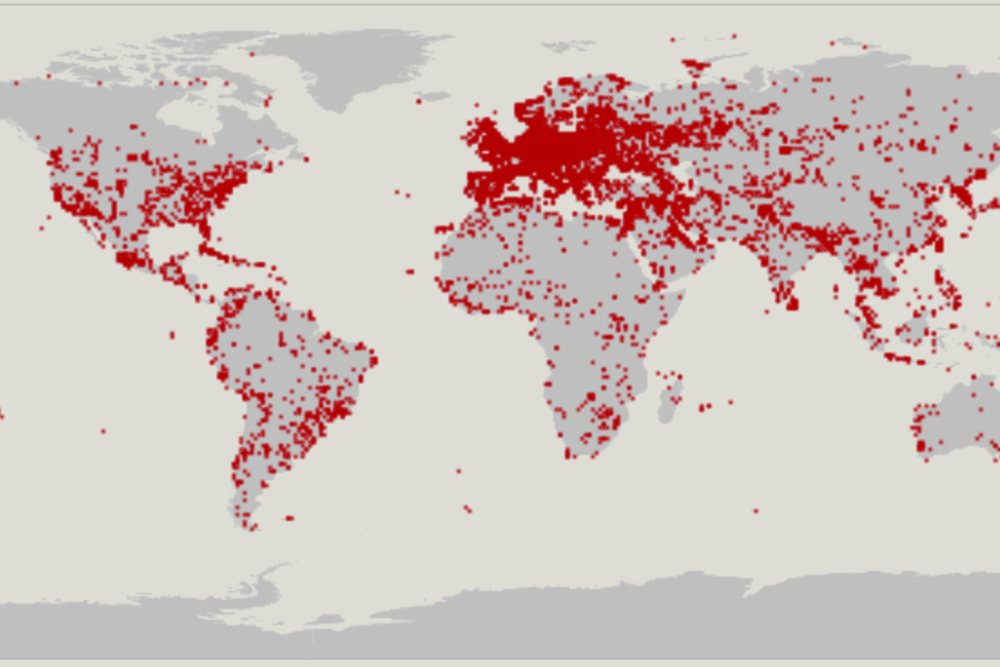 OpenStreetMap is (sometimes) a handy database of military