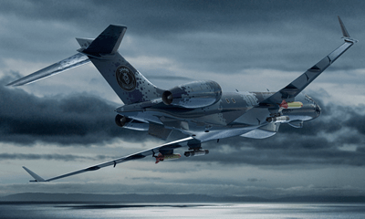Aircraft flying high for Maritime Surveillance