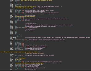 IDA View: First chunk of shellcode