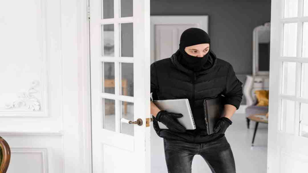 Burglar Leaving Home, dont get complacent about your home security