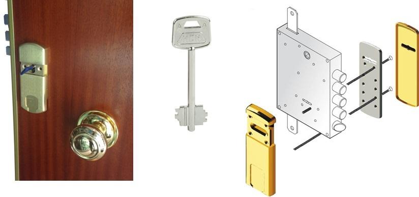 Instalación de escudo protector para cerradura de borjas