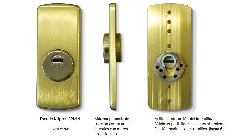 Escudo de seguridad Kripton para puertas blindadas