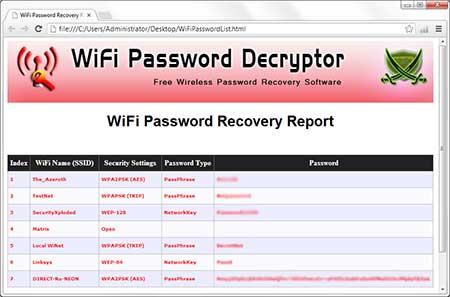WiFiPasswordDecryptor
