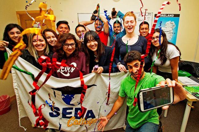 SEDA College students celebrating