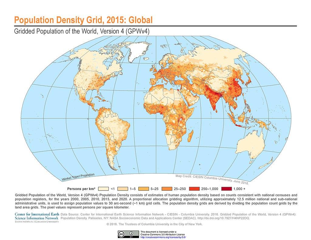 Maps Gridded Population Of The World Gpw V4